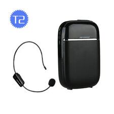 T2 Wireless PA Voice Amplifier Booster With UHF Mireless Mic For Teaching Guide