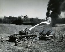 "M67 ""Zippo"" Flame Thrower Tank and M50 Ontos action 8x10 Vietnam War Photo 329"