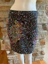 NWT! Anthropologie Maeve Sequin Confetti Mini Pencil Skirt Size 4