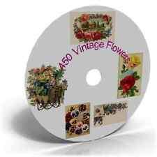 450 Vintage Victorian Edwardian FLOWERS Art & Craft CD