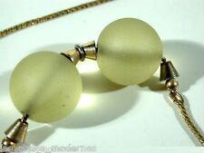 WMF Myra Art Deco Uranium Glass Necklace °° Ball Chain °° IKORA Era
