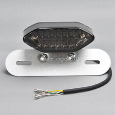 Smoke 20LED Motorcycle Tail Turn Signal Brake License Plate Integrated Light 12V