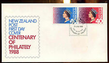 New Zealand 1988 Centenary Of Philately FDC First Day Cover #C12801