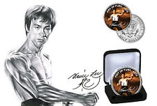 BRUCE LEE-FIST OF FURY édition limitée JFK Kennedy Half Dollar Coin avec COA