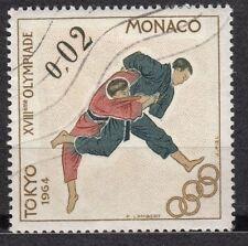 TIMBRE MONACO OBL N° 655  JEUX OLYMPIQUES DE TOKYO JUDO