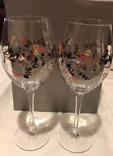 Charter Club Glassware Set of 2 Novelty Wine Glasses