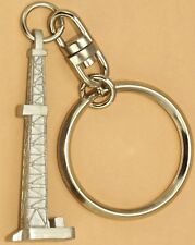Oilfield Keychain Derrick  pendant Oil drill rig tricone bit well gift sticker