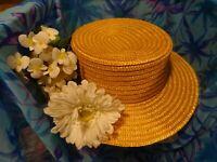 lot beau canotier paille ,fleur marguerite