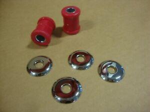 Big Dog Motorcycles OEM red Neoprene Handlebar Bushing Kit all 2000-2011 models