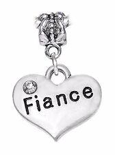 Fiance Heart Marriage Engagement Bride Gift Dangle Charm for European Bracelets
