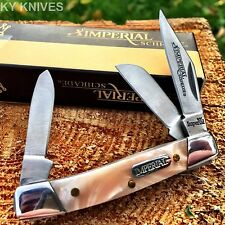 "Imperial Schrade STOCKMAN 2 1/2"" Pocket Knife Pink Pearl New! IMP18PS"