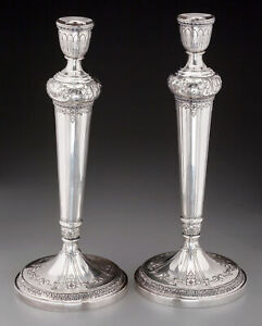 "Vintage Pair of Sterling Silver Weighted 13 3/4"" Candlesticks by International"