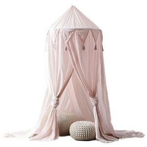Baby Kids Round Dome Bed Canopy Play Tent Hanging House Kids Playing Home Decor