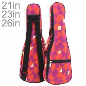 """21/23/26"""" Soprano Ukulele Gig Bag Folk Concert Uku 10mm Soft Padded Uke Bag Case"""