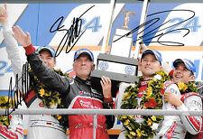 Lotterer/Fassler/TRELUYER firmato 12x8 AUDI VITTORIA podio, Le Mans 24hrs 2012