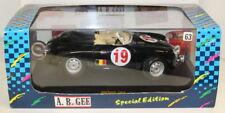 A B Gee 1/18 Scale Porsche 356 Roadster Black #19 Diecast Model Car + Case