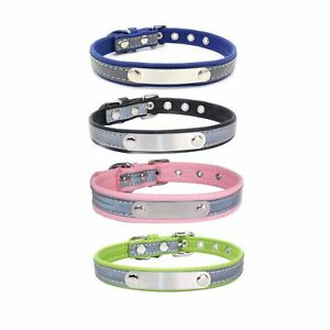 Cat Accessories Puppy Pet Supplies Reflective Leather Cat Collars Dog Collar