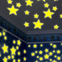 100PC Kids Bedroom Fluorescent Glow In The Dark Star Wall Sticker Home Decor Lot