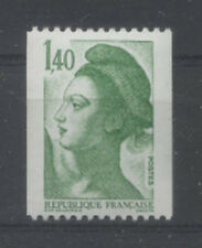 FRANCE TIMBRE ROULETTE 2191a N° au verso LIBERTE vert - LUXE **
