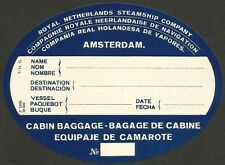 Royal Netherlands Steamship Company 1931 Luggage Label  Ӝ