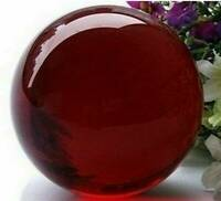 40MM Natural Fossils Quartz Sphere Crystal Dark Red Healing Ball Cat-eye Stone