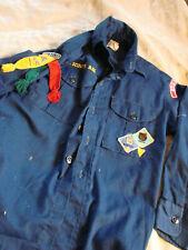 Vintage 60s 70s BSA Cub Scout Shirt Patches Pins Webelos Blue Boy Scouts