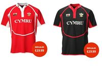 NEW MEN'S 'NEW COOLDRY' WALES WELSH FEATHERS/DRAGON COLLARED RUGBY T SHIRT