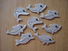 8 edible dolphin toppers for cake / cupcake decorations, birthday party