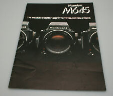 Mamiya M645 Camera System Marketing Brouchure/Booklet - 20 Pages