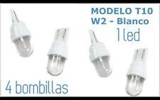 4 Bombillas de LED T10 Posición 1 Led Blanco