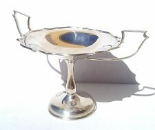 BELLISSIMO Periodo edoardiano William Hutton & Sons in argento bordo smerlato in tazza