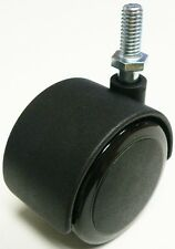 """Oajen 2"""" soft wheel chair caster with 5/16"""" - 18 x 1-1/2"""", pack of 4"""