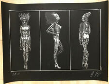 SIL from Species lithograph by H.R. Giger signed: EA/190 (Imperfect Discount)