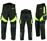 Men Waterproof Motorbike Motorcycle Trouser Pent Gears CE Armoured Lined - Green