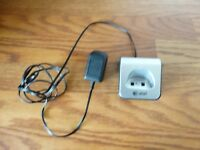 AT&T Cordless Phone Charging Cradle AC 6V 300mA, Silver, With power Adapter!!