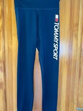 Tommy Hifiger Sports Leggings New Tags Navy Blue Stretchy High Waisted