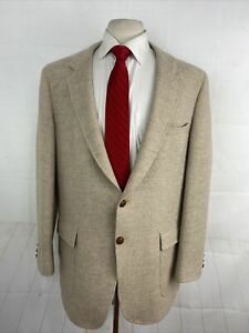 Anderson-Little Men's Beige Textured Wool Blazer 46R $425