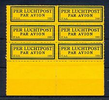 NEDERLAND 1926  KLM   AIRMAIL LABEL  (37 AA )  PANE OF 6  ** MNH   @24