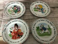 Paul Cardew Design - Alice In Wonderland Tea Party Set of 4 Dessert/Salad Plates