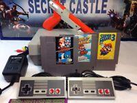 Nintendo NES Console W Super Mario Bros 1 2 & 3 Zapper Gun NEW 72 PIN WARRANTY
