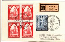 1946 Austria Cover Registered Censored with 5 Semi-Postal Stamps - Scarce Item