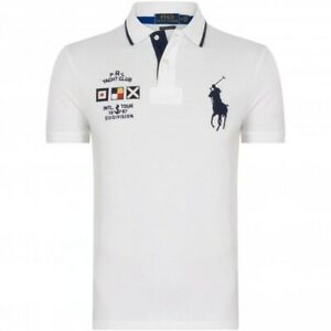 AUTHENTIC POLO RALPH LAUREN WHITE YATCH CLUB POLO SHIRT. LARGE.