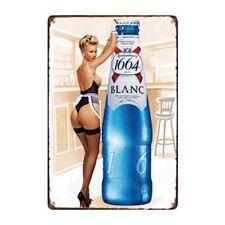 Metal Tin Sign 1664 blanc beer Bar Pub Home Vintage Retro Poster Cafe ART