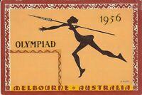 Melbourne, AUSTRALIA - 1956 Olympics - ARTIST SIGNED : J. Rajko