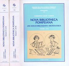Nova bibliotheca pompeiana. 250 anni di bibliografia archeologica 1°e 2°  POMPEI