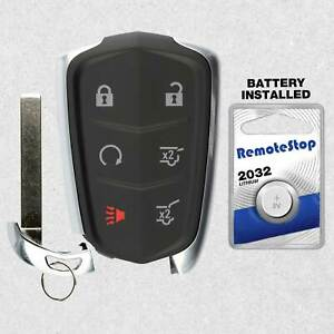 ROADFAR 6 Buttons Keyless Entry Remote Car Key Fob 2pcs Uncut Replacement fit for Cadillac Escalade for Cadillac Escalade ESV 15-20 HYQ2AB