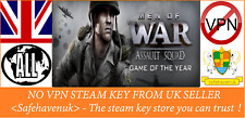 Men OF WAR SQUADRA D'ASSALTO Game of the Year chiave a vapore NO VPN REGIONE GRATIS UK Venditore