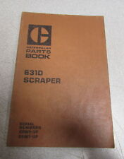 Caterpillar Cat 631D Scraper Parts Catalog Manual 28W1 29W1 1975