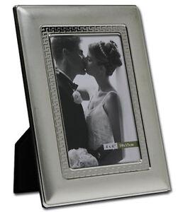 "Two Tone Silver Photo Picture Frame 4x6"" & 5x7"" - Matt & Shiny Silver"