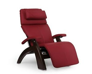 New Red Leather PC-600 Omni-Motion Silhouette Human Touch Perfect Chair Recliner